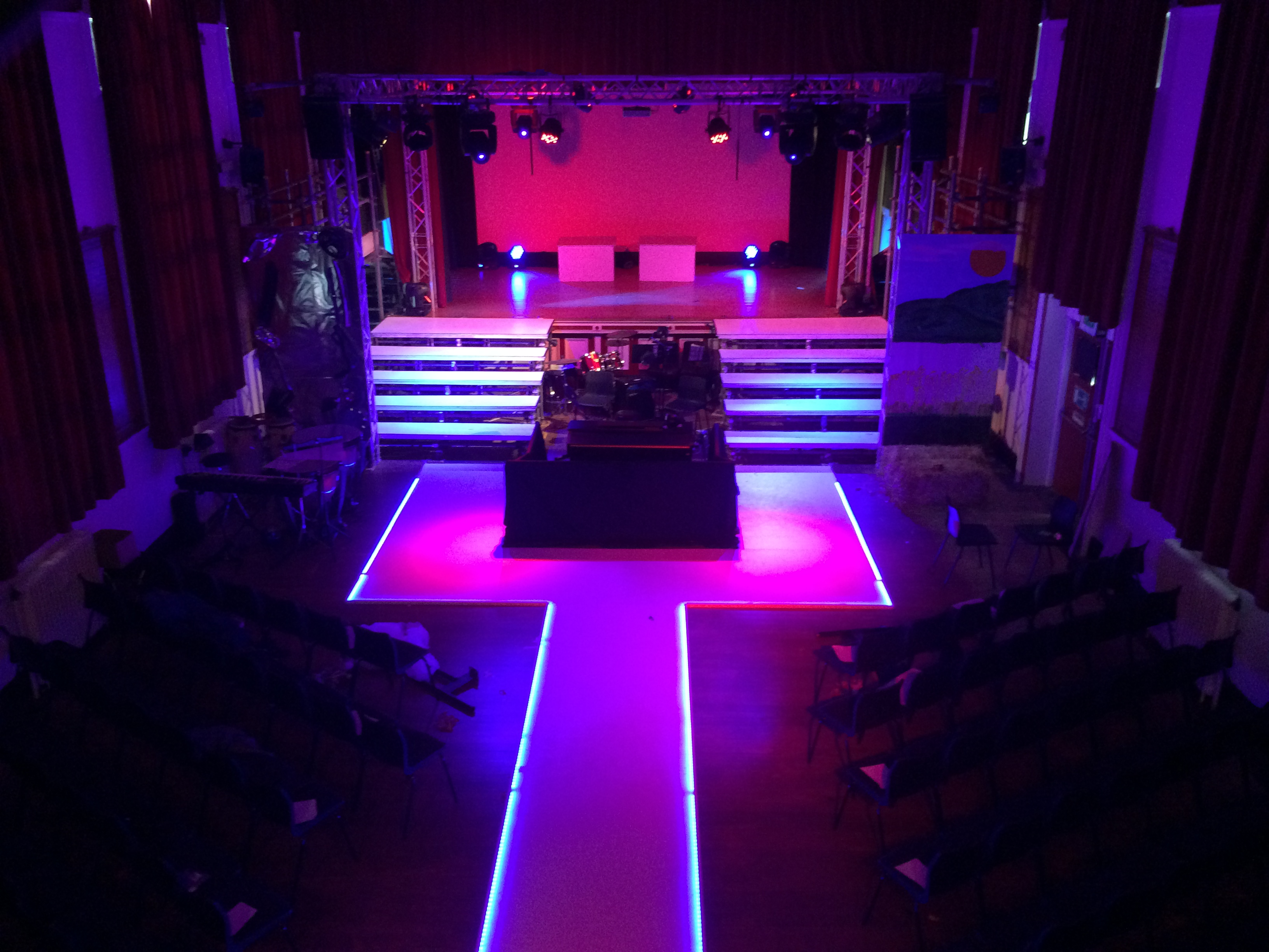 Stage and light event hire